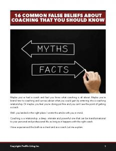 16 COMMON FALSE BELIEFS ABOUT COACHING THAT YOU SHOULD KNOW