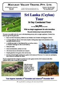 16 Day Conducted Tour