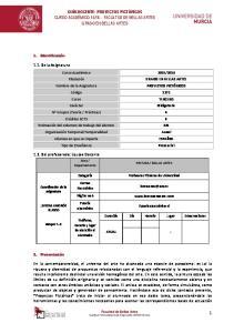 16 - FACULTAD DE BELLAS ARTES GRADO EN BELLAS ARTES