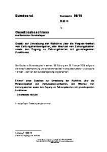 16. Gesetzesbeschluss des Deutschen Bundestages