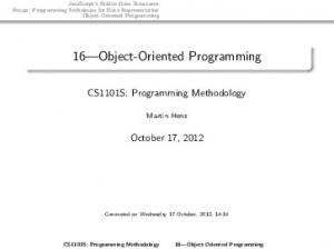 16 Object-Oriented Programming