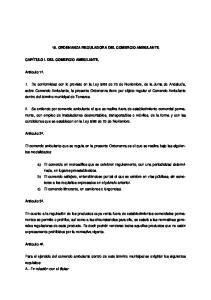 16. ORDENANZA REGULADORA DEL COMERCIO AMBULANTE