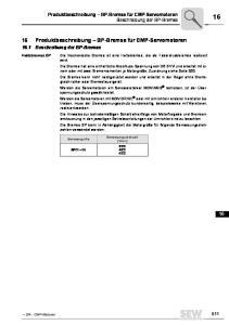 16 Produktbeschreibung BP-Bremse für CMP-Servomotoren