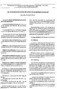 1.6. Transferencia de los derechos de propiedad industrial
