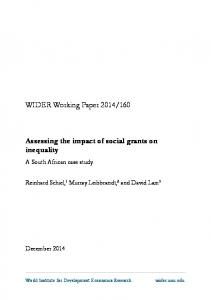 160. Assessing the impact of social grants on inequality