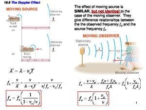 16.9 The Doppler Effect