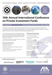 16th Annual International Conference on Private Investment Funds