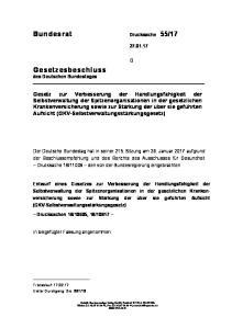 17. Gesetzesbeschluss des Deutschen Bundestages