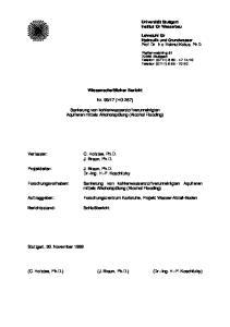 17 (HG 267) Sanierung von kohlenwasserstoffverunreinigten Aquiferen