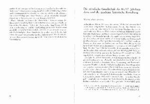 17. Jahrhunderts und die moderne historische Forschung