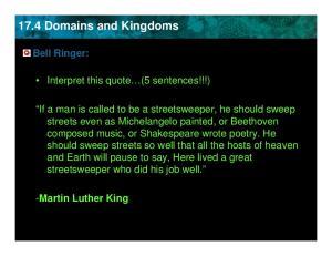 17.4 Domains and Kingdoms