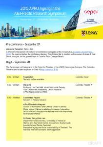 18-20th November 2015 September Sydney, Australia