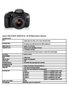 18-55 IS Black Colour Camera