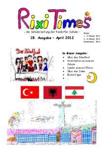 18. Ausgabe April 2012