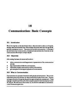 18 Communication: Basic Concepts