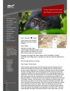 18 Day Uganda Gorilla Safari with Rwanda & Victoria Falls