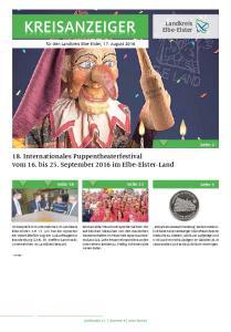 18. Internationales Puppentheaterfestival vom 16. bis 25. September 2016 im Elbe-Elster-Land