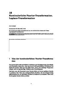 18 Kontinuierliche Fourier-Transformation. Laplace-Transformation