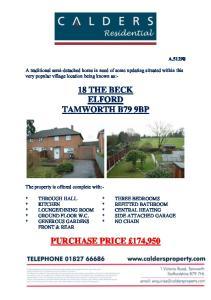 18 THE BECK ELFORD TAMWORTH B79 9BP
