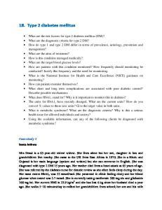 18. Type 2 diabetes mellitus