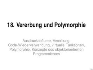 18. Vererbung und Polymorphie