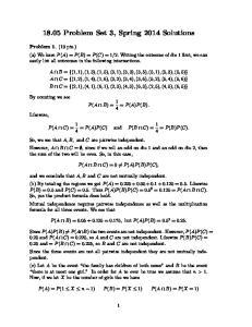 18.05 Problem Set 3, Spring 2014 Solutions