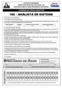 186 ANALISTA DE SISTEMA