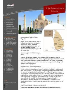 19 Day Colours of India & Sri Lanka