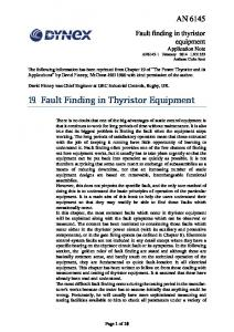 19. Fault Finding in Thyristor Equipment