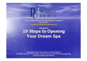 19 Steps to Opening Your Dream Spa