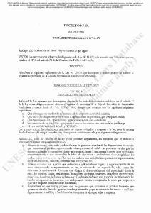 1964 REGLAMENTO DE LA LEY N DECRETO: REGLAMENTO DE LA LEY N TITULO 1 DISPOSIOONES GENERALES