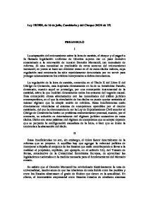 1985, de 16 de julio, Cambiaria y del Cheque (BOE de 19) PREAMBULO