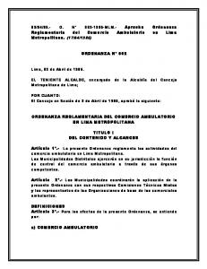 1985) ORDENANZA N 002