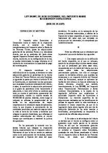 1987, DE 18 DE DICIEMBRE, DEL IMPUESTO SOBRE SUCESIONES Y DONACIONES (BOE DE )