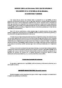 1990, de 28 de diciembre, DE CARRETERAS Y CAMINOS