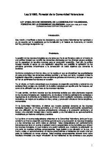1993, Forestal de la Comunidad Valenciana