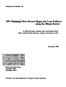 1993 Mississippi River Record Stages and Levee Failures along the Illinois Border