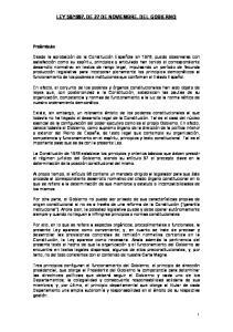 1997, DE 27 DE NOVIEMBRE, DEL GOBIERNO