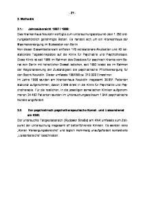 1998: 3.2. Der psychiatrisch-psychotherapeutische Konsil- und Liaisondienst am KNK: