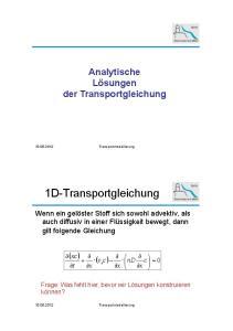 1D-Transportgleichung