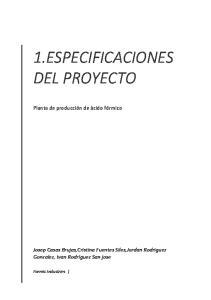 1.ESPECIFICACIONES DEL PROYECTO