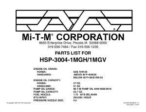 1MGV ENGINE OIL GRADE: HONDA: SAE 10W-30
