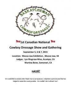 1st Canadian National Cowboy Dressage Show and Gathering