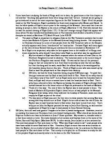 1st Kings Chapter 17 John Karmelich