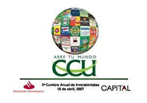 2 a Cumbre Anual de Inversionistas 18 de abril, 2007