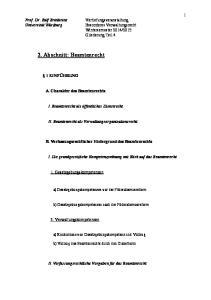 2. Abschnitt: Beamtenrecht