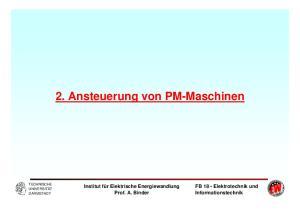 2. Ansteuerung von PM-Maschinen
