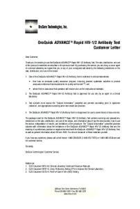 2 Antibody Test Customer Letter