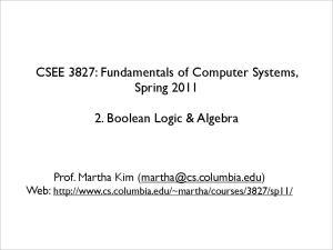 2. Boolean Logic & Algebra
