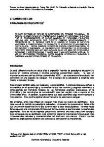 2. CAMBIO DE LOS PARADIGMAS EDUCATIVOS 1